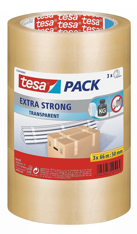 Tesa embalaje juego de 3 cintas transparente de cierre transparente cintas 66 m x 50 mm 72e28a