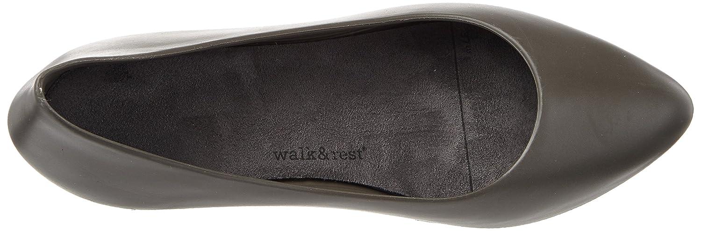 walk&rest Wedge Damen Wedge walk&rest Geschlossene Ballerinas Schwarz (Anthrazit) b87af6