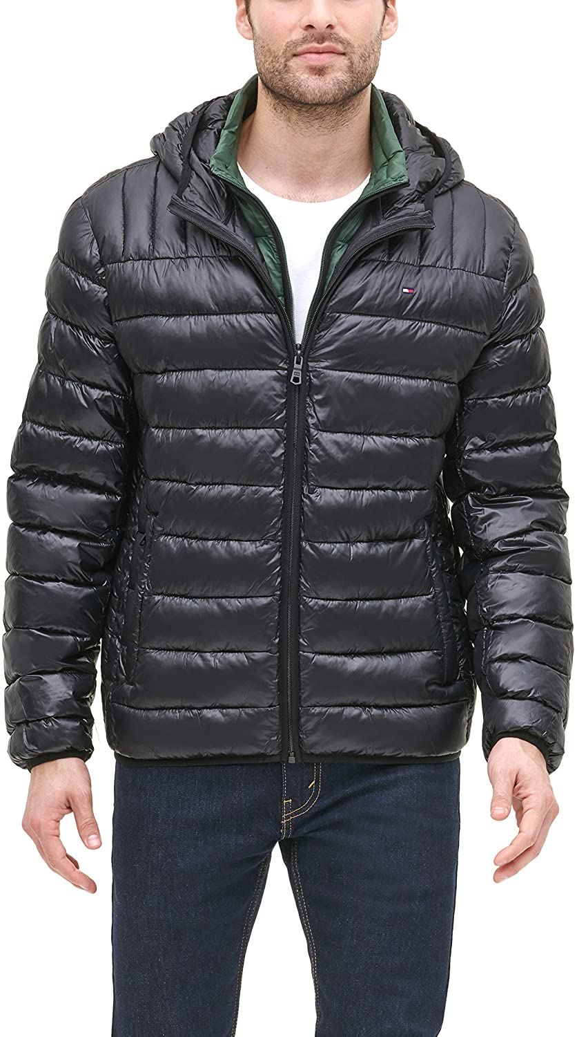Carbon Medium Tommy Hilfiger Mens Ultra Loft Sweaterweight Quilted Packable Jacket