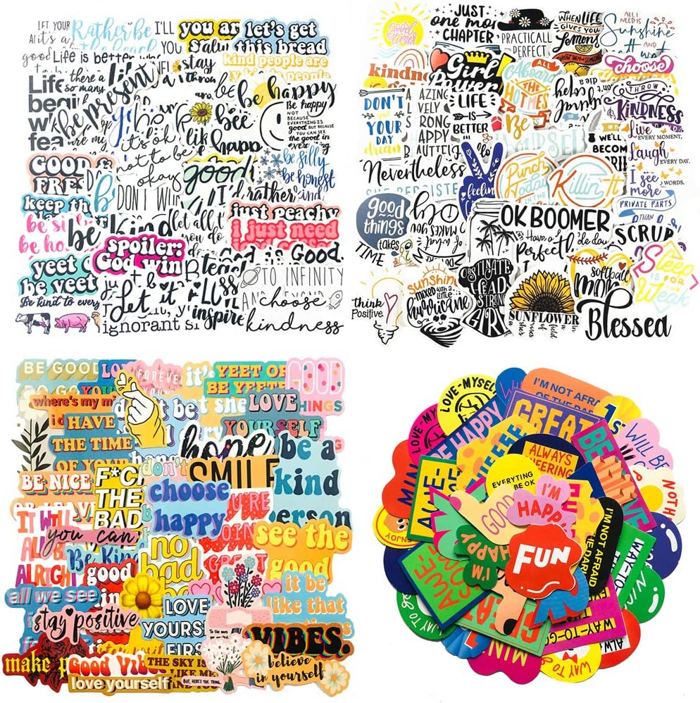 178PCS Inspirational Quote Stickers, Reward Motivational Stickers for Water Bottle Laptops Computers Phone Suitable for Students Teachers Company Employees: Computers & Accessories