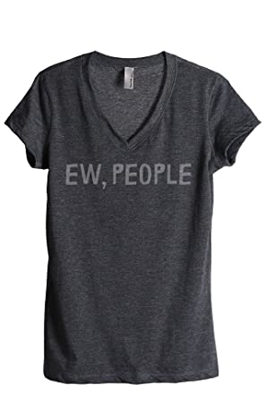 2aebc6649c1fd Thread Tank Ew People Women s Relaxed V-Neck T-Shirt Tee Charcoal Small