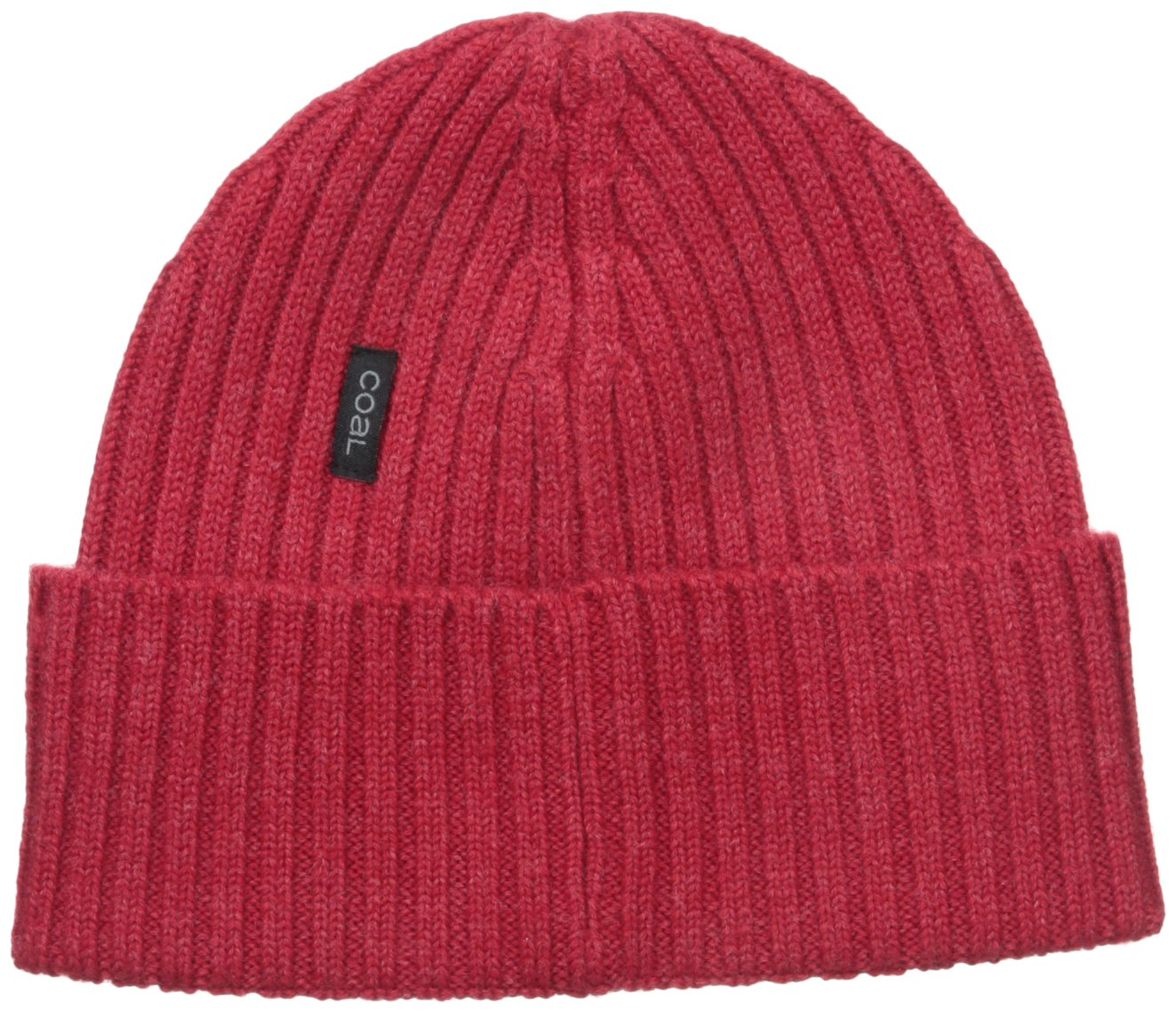 Coal Men's The Emerson Fine Knit Merino Beanie Hat, Heather Red, One Size