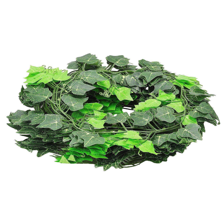96 Feet 12 Artificial Silk Ivy Dense Sweet Potato Garland Vine Fake Hanging Plant Leaves Greenery Wedding Party Garlands Derker