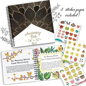 Amazoncom Anniversary Book A Hardcover Wedding Memory Album To