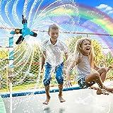 Trampoline Water Sprinkler for Kids, Trampoline Sprinkler Accessories 360° Rotating Waterwhirl Sprinkler Toys for 8-16 ft Tra