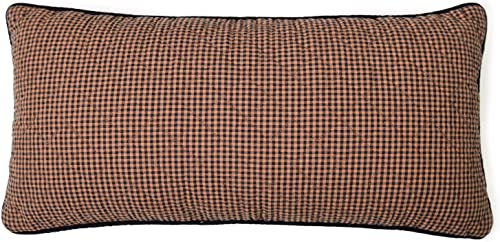 Donna Sharp Throw Pillow – Bear Star Lodge Decorative Throw Pillow with Gingham Pattern – Rectangular