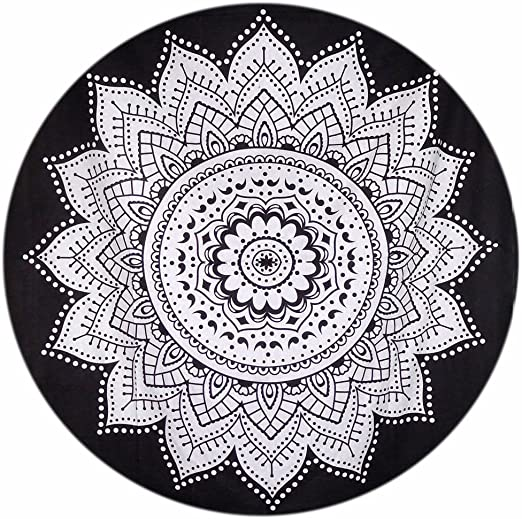 Gemsandcraft - Tapiz Redondo de Mandala para Colgar en la Pared ...