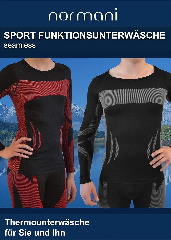 4feff56f44d98a normani Sport Funktionswäsche Garnitur (Hose + Hemd) für Damen und Herren - Ski  Unterwäsche mit Elasthan  Amazon.de  Sport   Freizeit