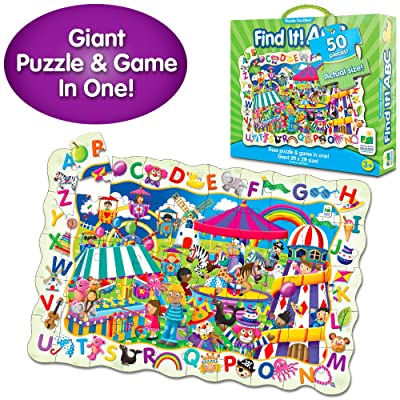 The Learning Journey Puzzle Doubles - Find It! ABC - 50 Piece Puzzle - Toys & Gifts for Boys & Girls Ages 3 and Up: Toys & Games