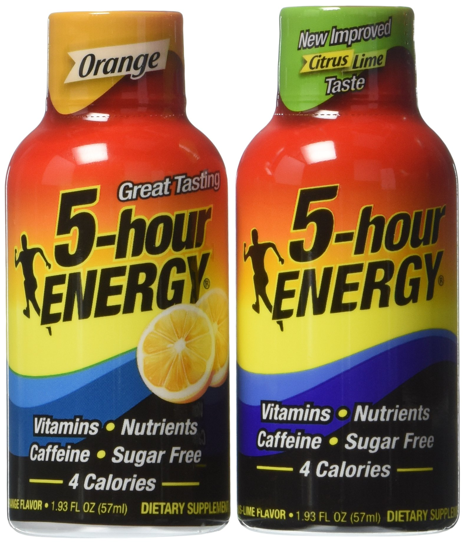 5 Hour Energy Drink, Lemon Lime/Orange, 24 Count