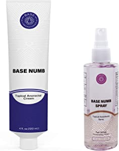 Numbing Cream & Spray Bundle: 5% Lidocaine Numbing Cream with 4% Numbing Spray for Tattoos and Brazilian Wax