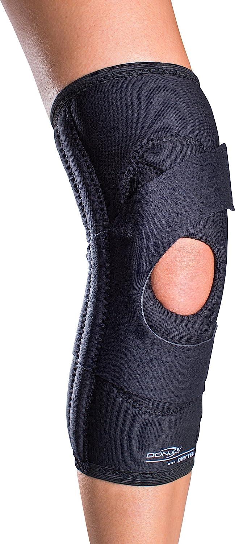 DonJoy Lateral J Patella Knee Support Brace Without Hinge: Drytex, Right Leg, Medium