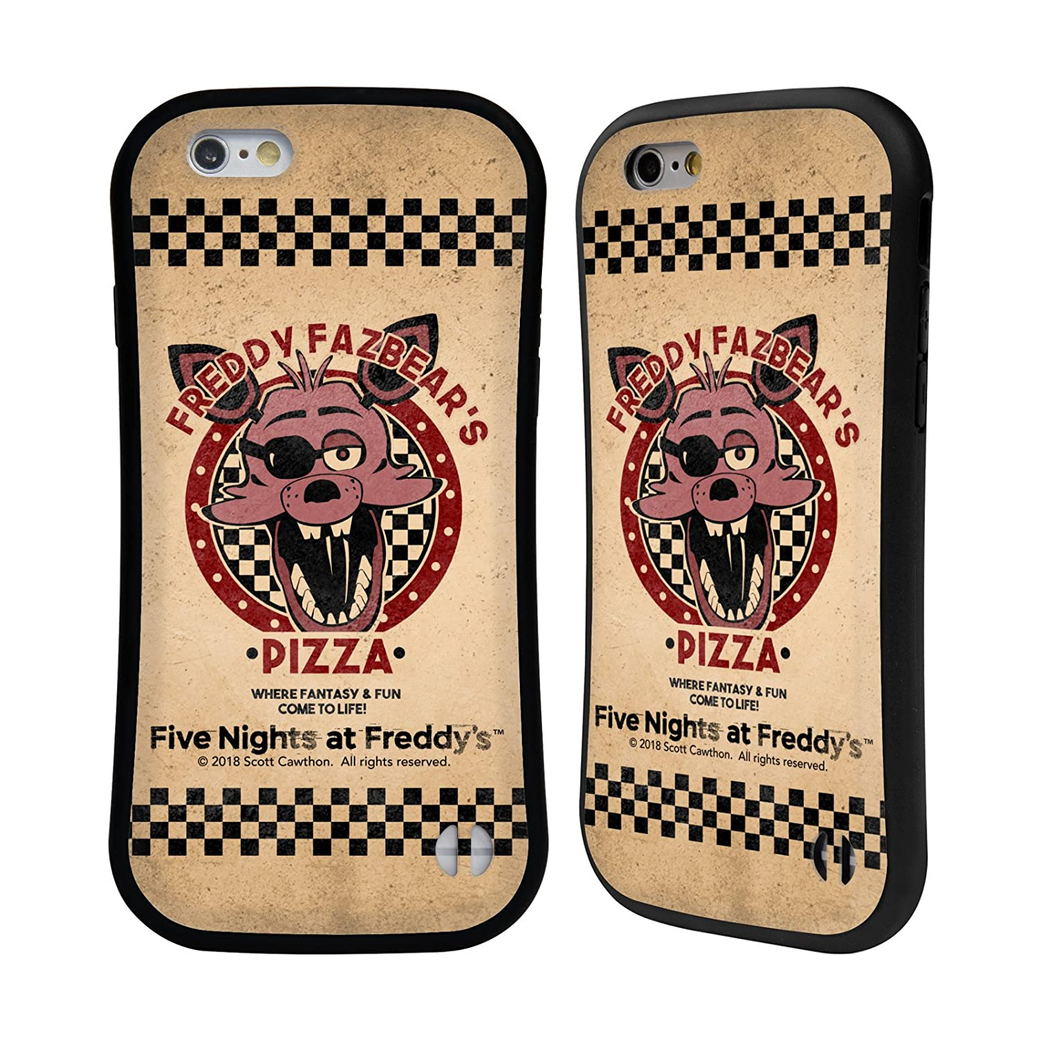 Head Case Designs Ufficiale Five Nights At Freddy's Freddy Freddy Fazbear's Pizza Case Ibrida per iPhone 7 Plus/iPhone 8 Plus HHYBK-IPH7P-FNAFG6PS-TFR