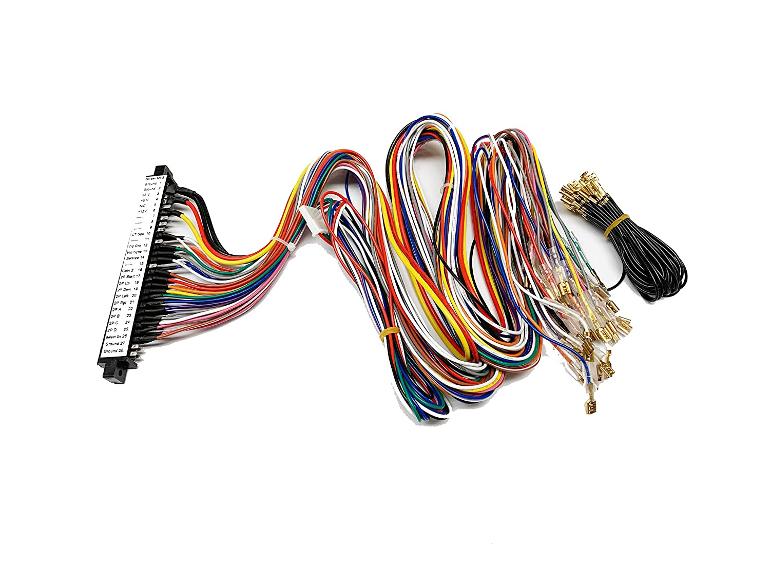 Pre Labeled Full Jamma Harness Compatible with NEO GEO MVS Arcade System