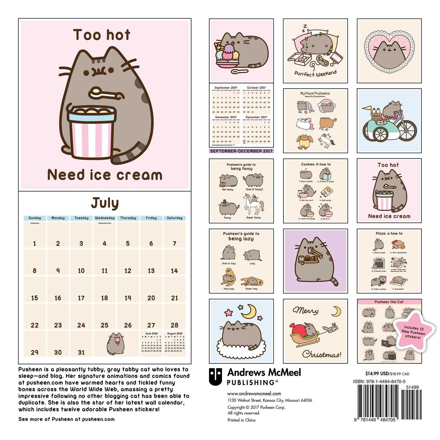 Pusheen the Cat 2018 Calendar: Amazon.es: Claire Belton ...