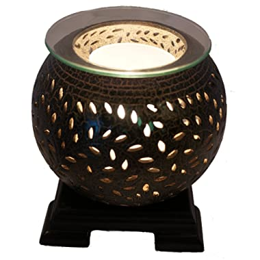 Coo Candles Electric Candle Wax Melt Warmer or Oil Burner Lamp Combo - Jasmine (Brown)