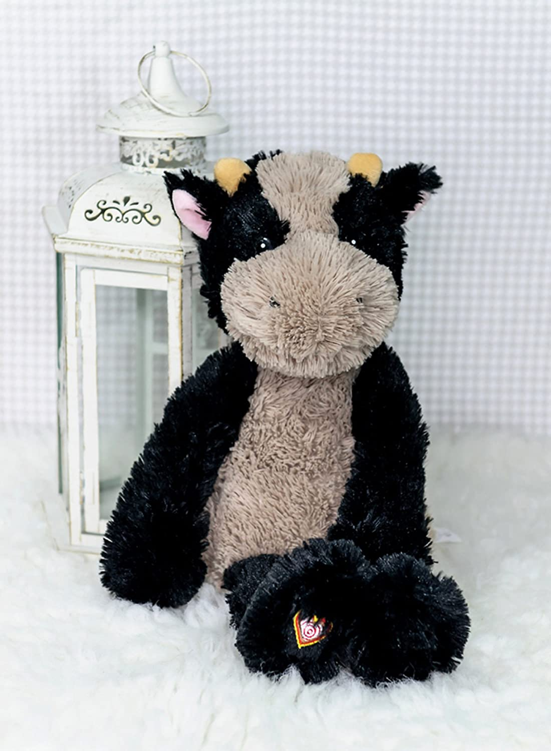 My Babys Heartbeat Bear Vintage Stuffed Cow With A 20 Second Voice Sound Recorder Keeps Your Babys Ultrasound Heartbeat Safe! Vintage Cow