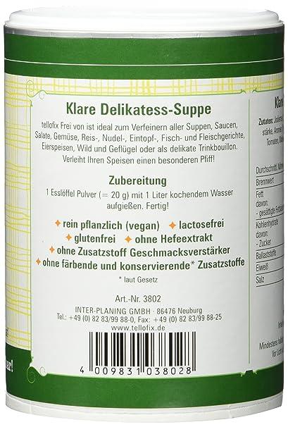 tellofix Frei von, 1er Pack (1 x 220 g Packung): Amazon.de ...