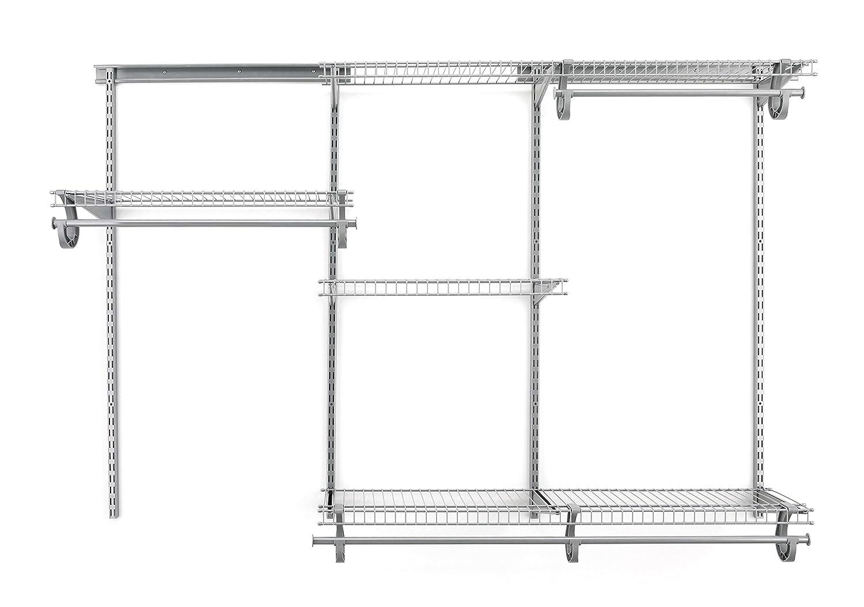 Amazon.com: ClosetMaid 78808 ShelfTrack 4ft. To 6ft. Adjustable Closet  Organizer Kit, Satin Chrome: Home U0026 Kitchen