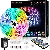 Tira LED 6M, SHOPLED RGB SMD 5050 Luces LED Kit de Cambio de Color con Control Remoto de 44 Teclas y Fuente de…