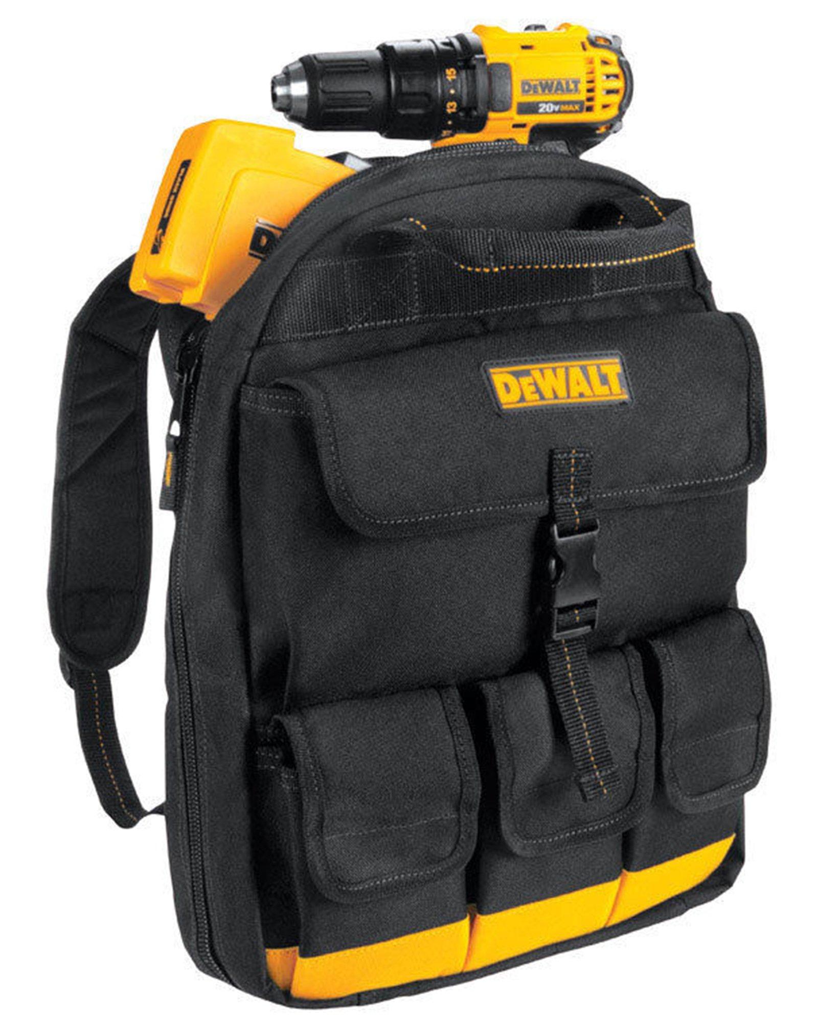 DeWalt DGC550 Backpack Tool Bag (25 Pocket), Black/Yellow