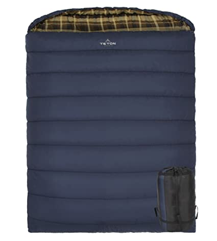 TETON Sports Mammoth +20F Queen-Size Double Sleeping Bag  Warm and  Comfortable for c3f7f9dc6