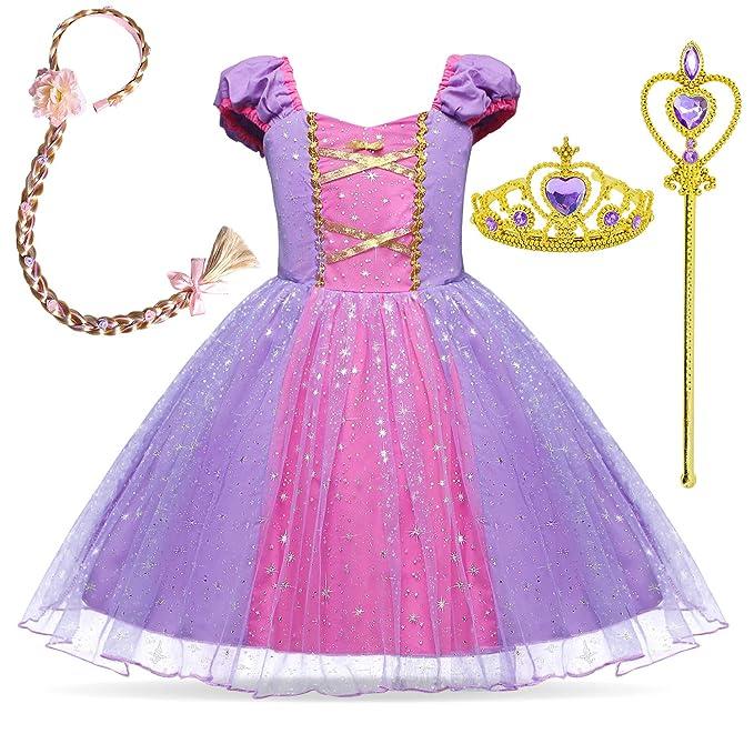 Amazon.com: Disfraz de princesa Rapunzel para bebé niña ...