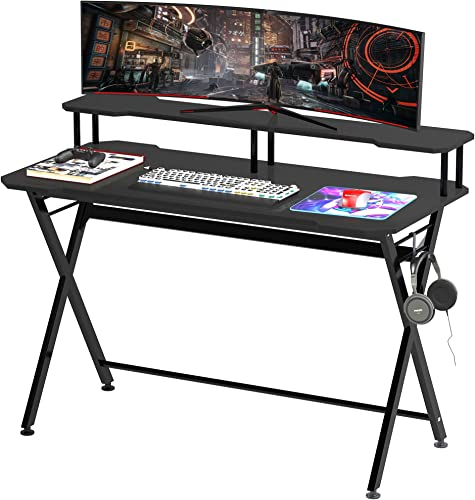 HOMCOM 55 inch Gaming Computer Desk Workstation