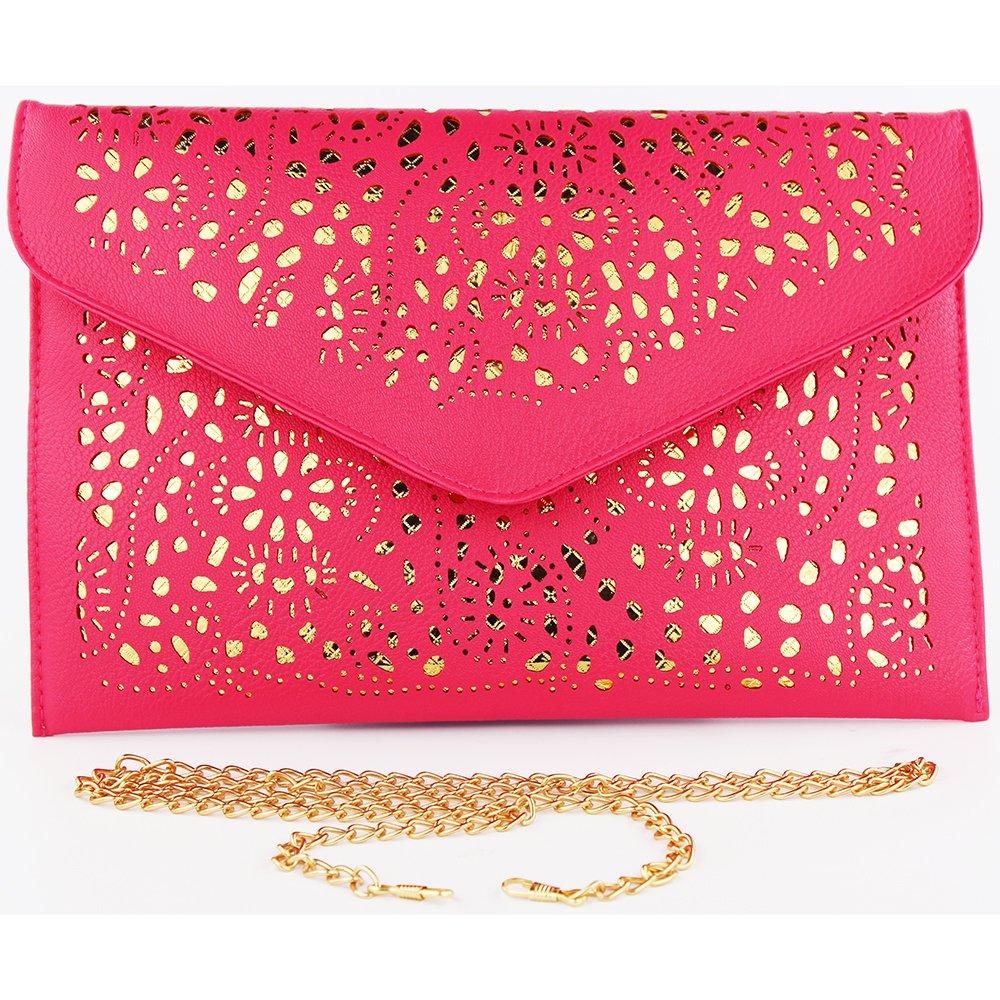 women bag 2017 bolsa feminina women purses and handbags women leather handbags crossbody bags for women crossbody purse bolsos mujer elegante bag small crossbody bags for women clutch bag (rose red) by imentha (Image #6)