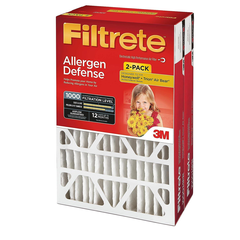 Micro Allergen Defense Deep Pleat AC Furnace Air Filter MPR 1000 DP 2-Pack Filtrete 20x25x4