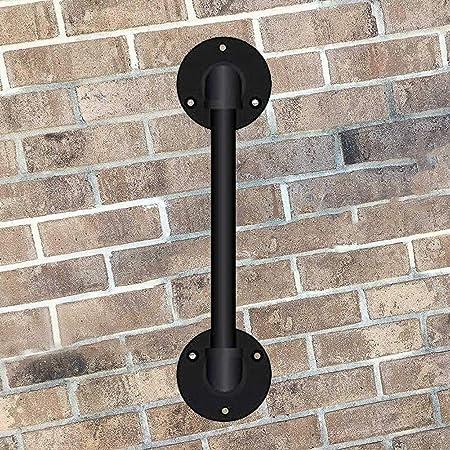 Baldas Flotantes Q Escalera Pasamanos, por Escalera Exterior Cubierta Loft Ancianos barandillas de Seguridad, Corredor Negro Hierro Forjado Mate Carril de la Escalera Barandilla (Size : 60cm): Amazon.es: Hogar
