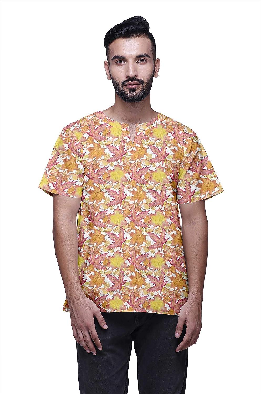 Atasi Indio Moda Ropa Hombres Corto Kurta Impreso Camisa Étnica Kurtas: Amazon.es: Ropa y accesorios