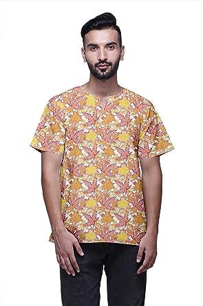 Atasi Indio Moda Ropa Hombres Corto Kurta Impreso Camisa ...