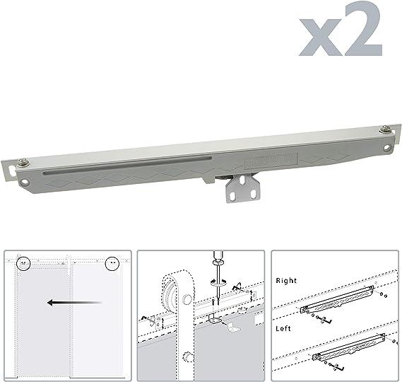 PrimeMatik - Cierrapuertas automático de color acero para puerta corredera sku GK11 (GK019): Amazon.es: Bricolaje y herramientas