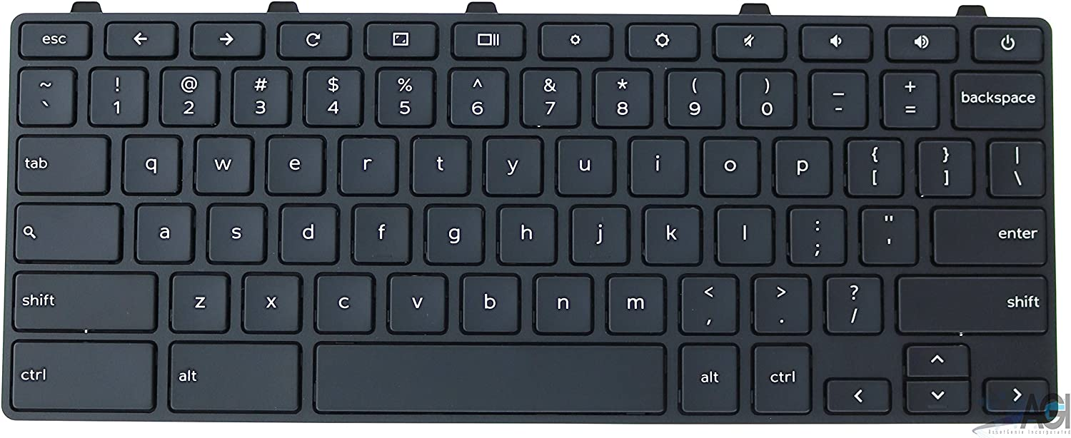 Keyboard 5XVF4 Compatible with DELL 11 G3 (3180) (Touch & Non) / 13 G3 (3380) (Touch & Non) / 11 G4 (3181) Chromebook