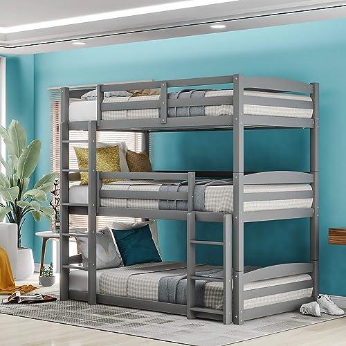 Merax Twin Triple Bunk Bed