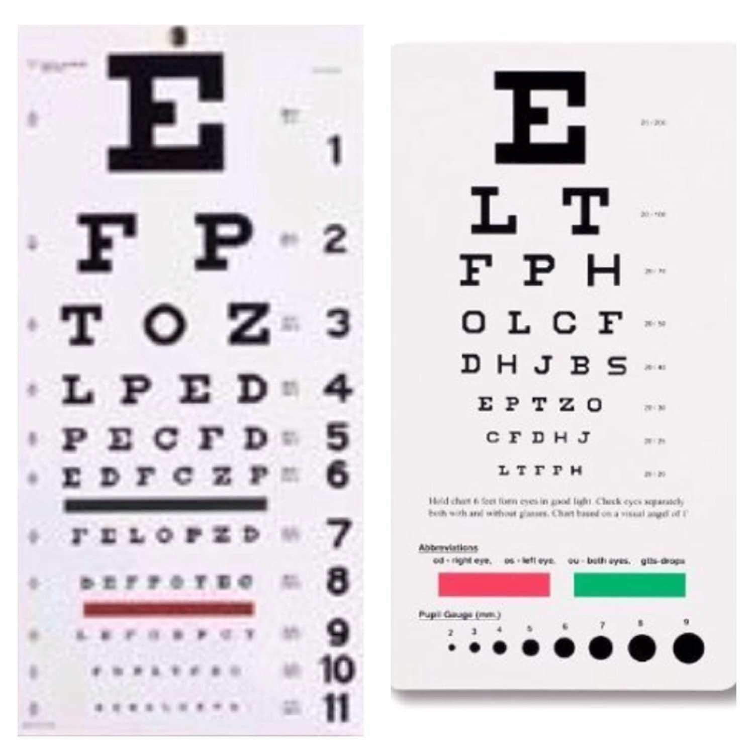 Amazon emi snellen eye wall chart 22 by 11 and snellen eye amazon emi snellen eye wall chart 22 by 11 and snellen eye pocket chart 6 38 by 3 12 2 piece combination pack health personal care nvjuhfo Gallery