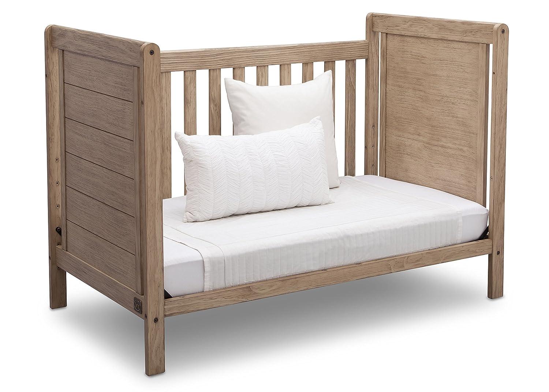 Rustic Grey Serta Cali 4-in-1 Convertible Baby Crib