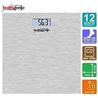 Healthgenie Hd-221 DigitalWeighingScale(Silver Brushed Metallic)