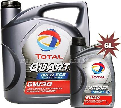 Total Quartz Engine Oil Ineo Ecs 5w30 5 L 1x 1 L 6 L Auto