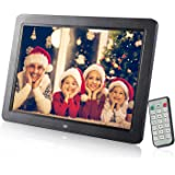 Digital Photo Frame,12 inch Widescreen Digital Photo & HD Video Frame HD Digital Picture Frames With Wireless Remote Control support Advertising Player / Digital Calendar / Music Video Player