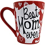 ♥ Mother's Day ♥ KINREX Coffee & Tea Cup - Best Mom Ever - 12 oz - Ceramic Mug - Gifts for Mom, Women and Ladies