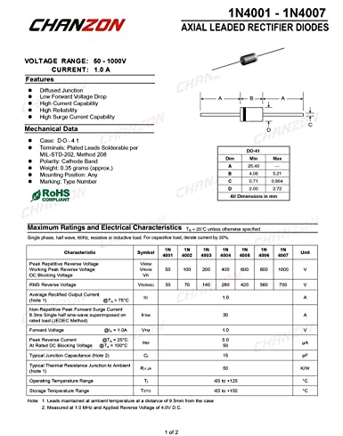 1N4003 SMD Diode Gleichrichterdiode 1A 200V 10 Stück 0014