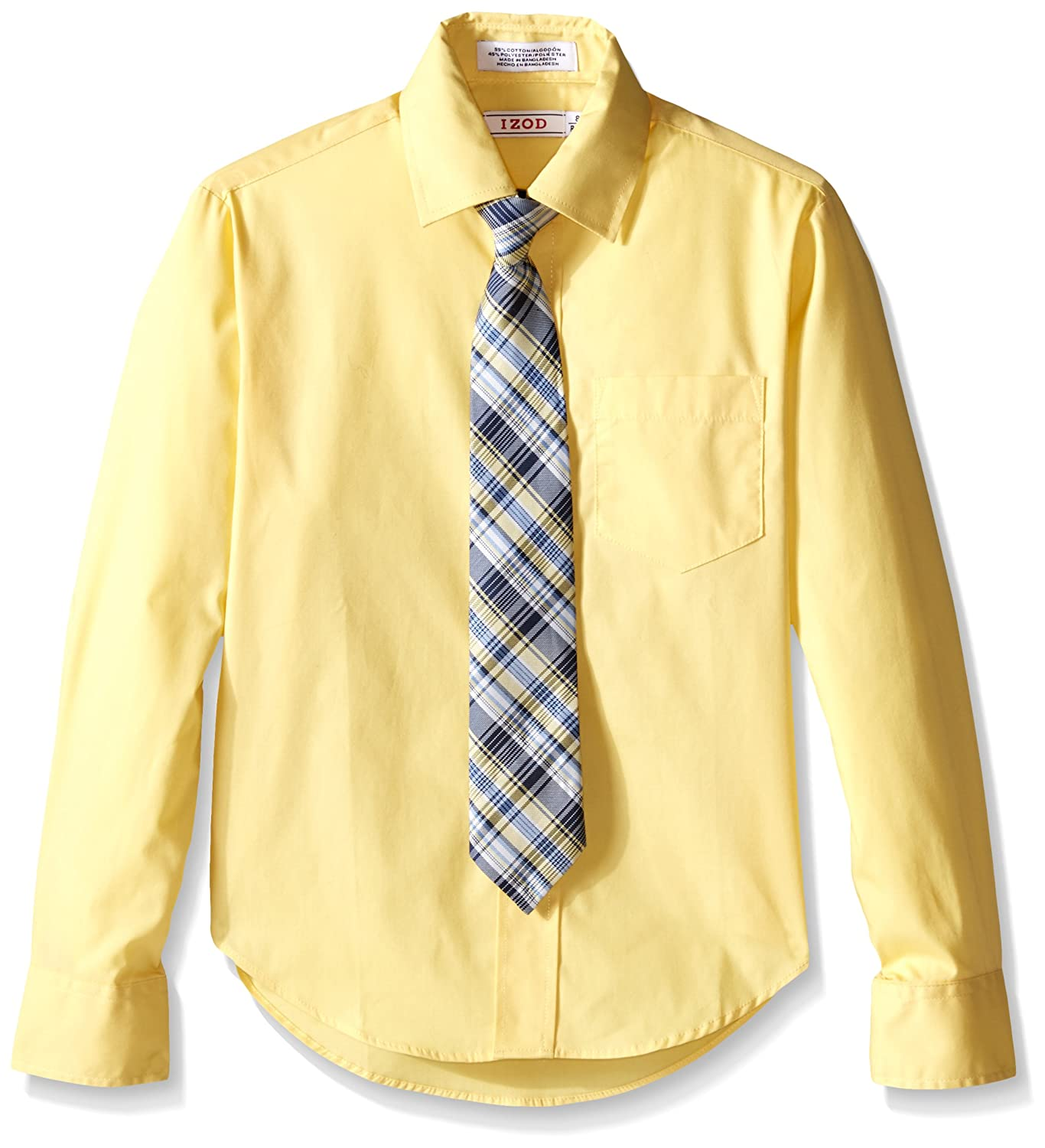 IZOD Boys' Long Sleeve Solid Shirt and Tie Set Izod Children's Apparel Z873027