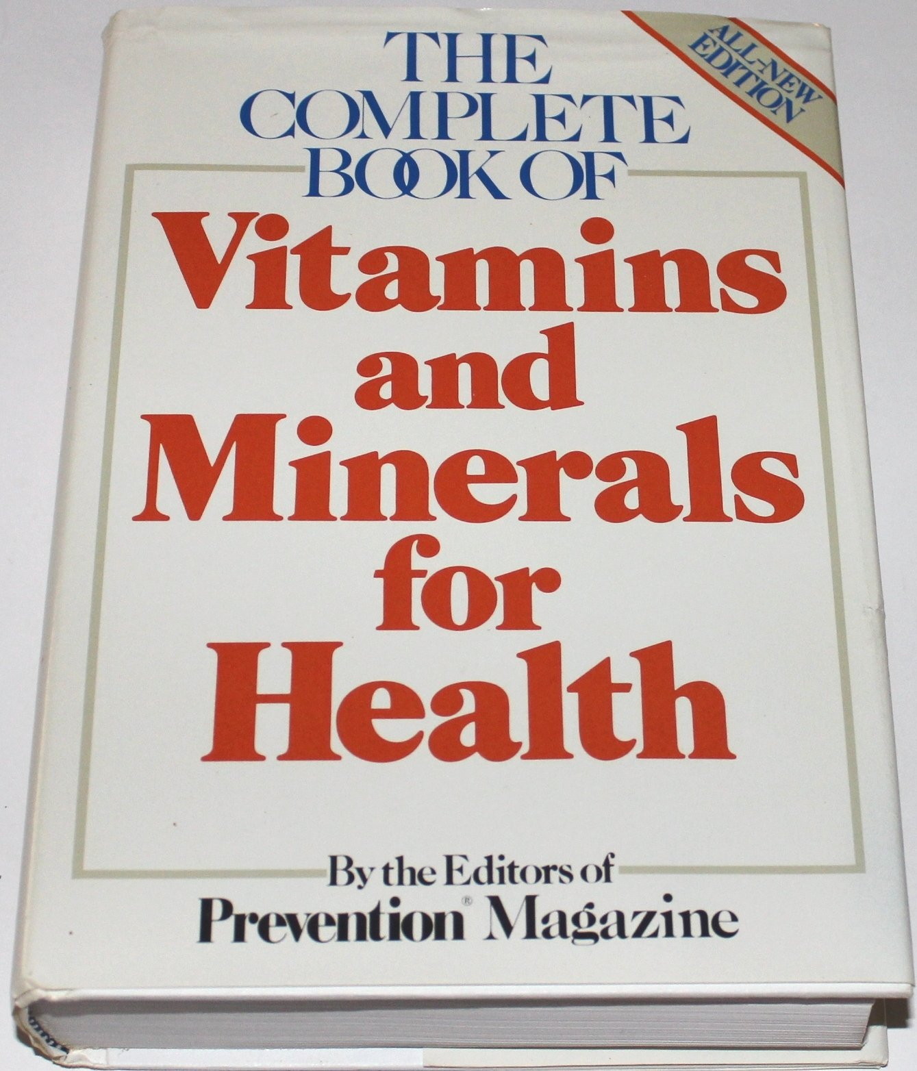 The Complete book of vitamins and minerals for health: Prevention Magazine,  Sharon Faelten: 9780878577491: Amazon.com: Books