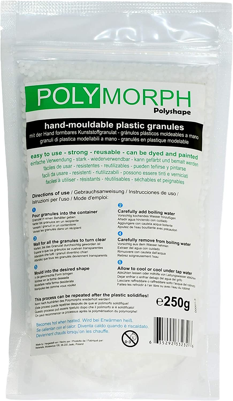 Bolsa de plástico Polymorph, moldeable a mano, 250g