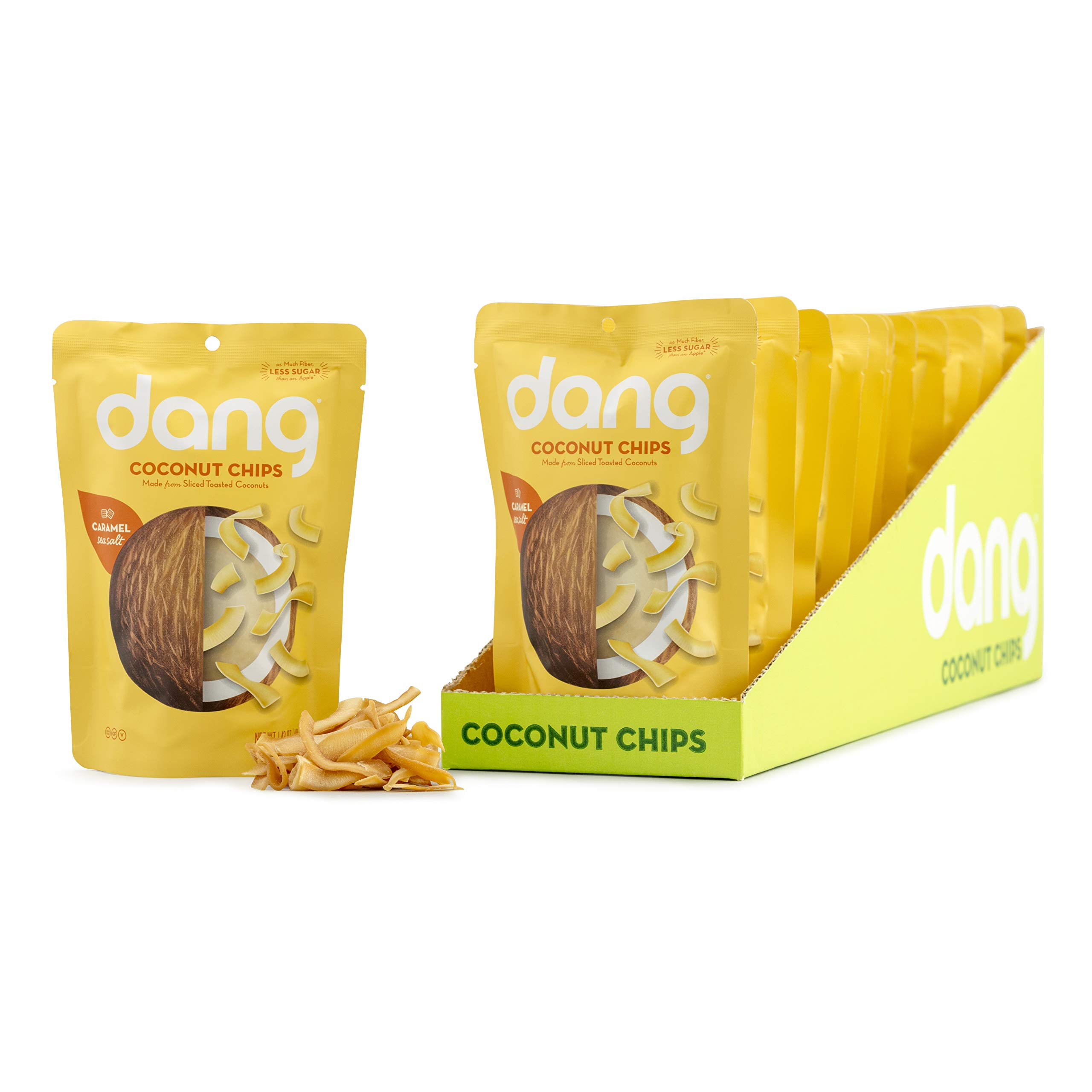 Dang Toasted Coconut Chips, Paleo, Gluten Free, Caramel Sea Salt, 1.43 Ounce (12 Count)