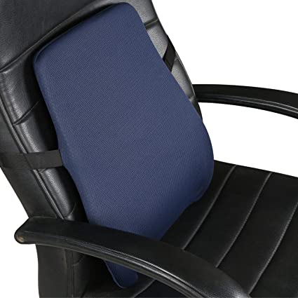 Buy Metron Slim Firm Lumbar Support Pillow Back Cushion For Car Office Computer Chair Wheelchair Seat Slim Ergonomic Back Cushion For Back Pain Relief Color Dark Pack Of
