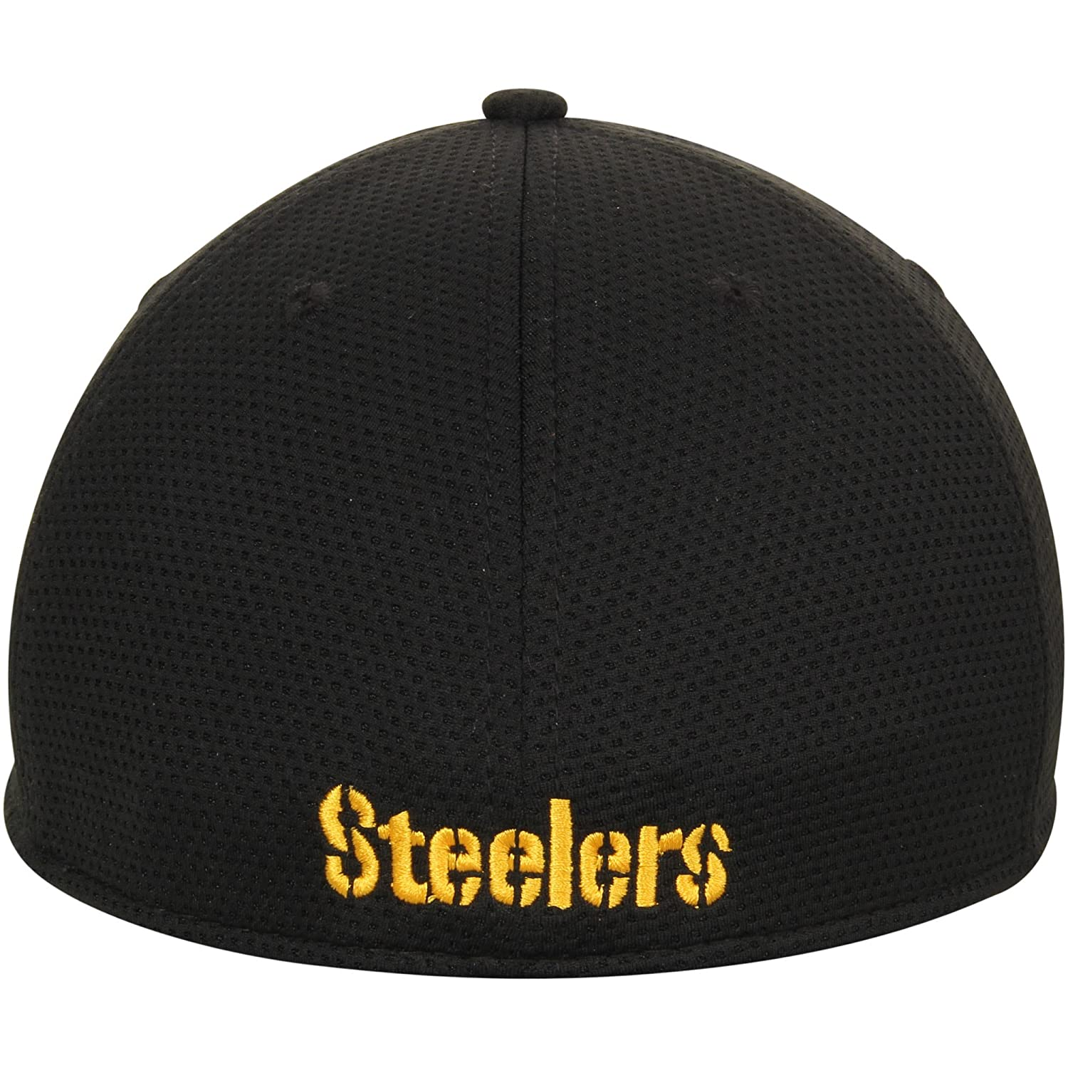 8f853d08a Amazon.com  New Era Authentic Pittsburgh Steelers NFL 39THIRTY Black Tone  Tech Flex Fit Hat  Sports   Outdoors