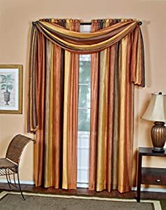 Achim Home Furnishings Ombre Tie Up, 50-Inch by 63-Inch, Black